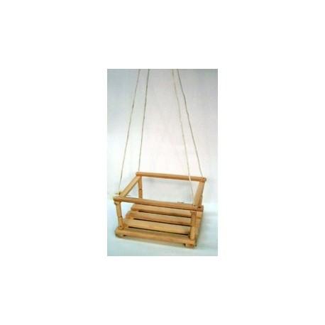Дървена градинска люлка