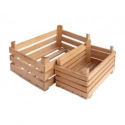 Декоративна дървена щайга