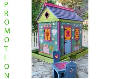 Wooden kids house